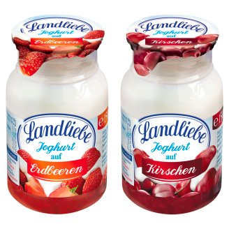 Landliebe Strawberry or Cherry Flavoured Yoghurt 150 g