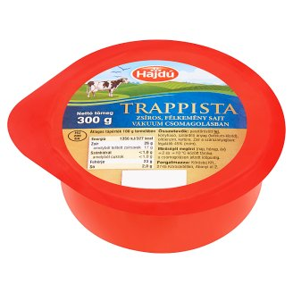 Hajdú Fat Semi-Hard Trappist Cheese 300 g