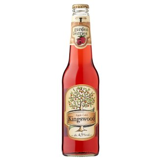 Kingswood Garden Berries Strawberry-Raspberry-Currant Flavoured Cider 4,5% 0,4 l