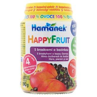 Hamánek HappyFruit Apple-Peach and Elder Baby Dessert 4+ Months 190 g