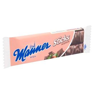 Manner Sticks Mignon mogyorókrémmel töltött ostyaszeletek étcsokoládéval bevonva 30 g