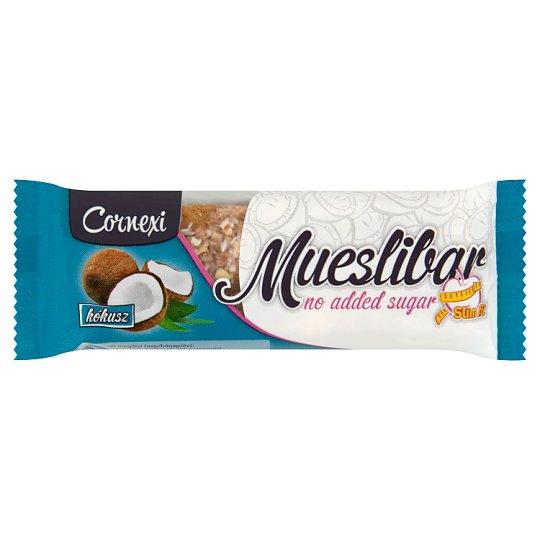 Cornexi kókuszos müzliszelet kakaós tejbevonó talppal, édesítőszerrel 25 g