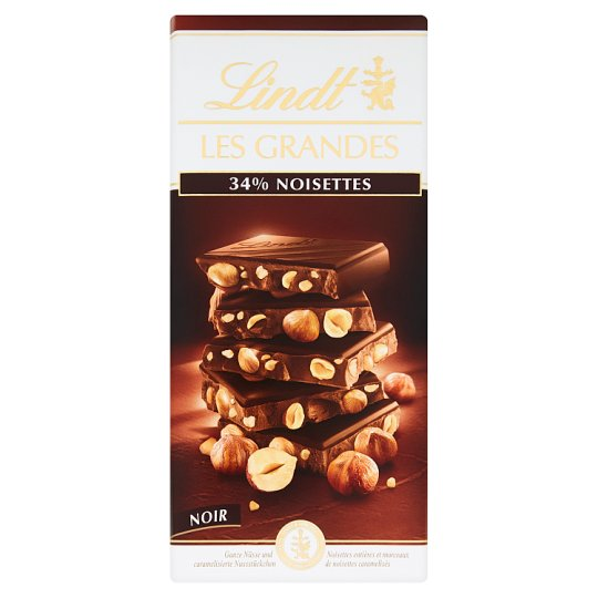 Lindt Les Grandes Swiss Dark Chocolate with Whole Hazelnuts 150 g