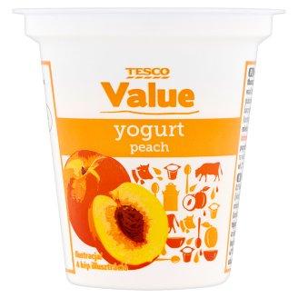 Tesco Value Peach Flavoured Low-Fat Yoghurt 125 g