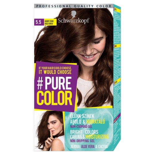 Schwarzkopf #Pure Color Permanent Hair Colorant 5.5 Gold Choco