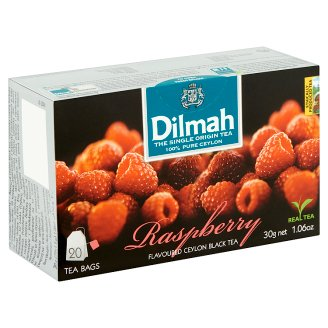 Dilmah Raspberry Flavoured Ceylon Black Tea 20 Tea Bags 30 g