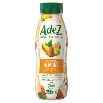Adez Almond Drink with Grape, Mango and Passion Fruit Juice with Sweetener and E-vitamin 250 ml