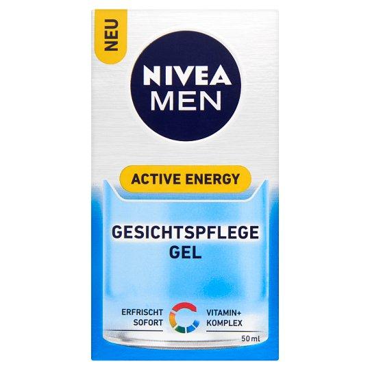 NIVEA MEN Active Energy Fresh Look arcápoló gél 50 ml