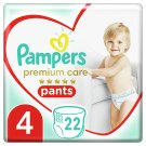 Pampers Premium Care Pants S4, 22 Nappies, Softest Easy-On
