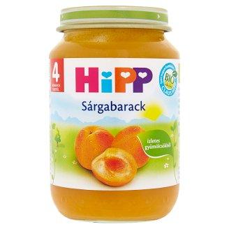 HiPP BIO glutén- és tejszármazékmentes sárgabarack bébidesszert 4 hónapos kortól 190 g