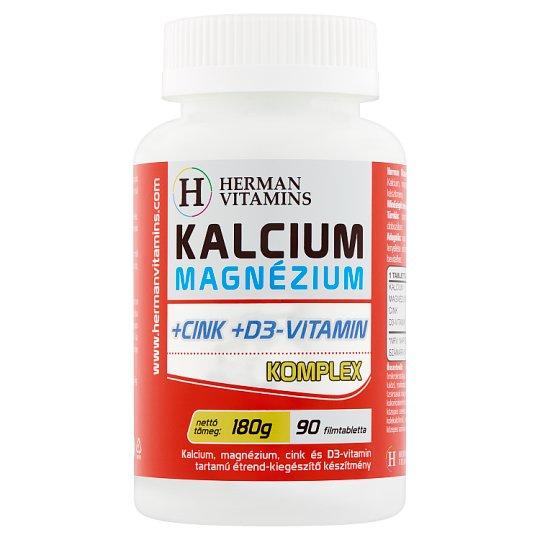Herman Vitamins Calcium Magnesium +Zinc +Vitamin D3 Complex Food Supplement 90 pcs 180 g