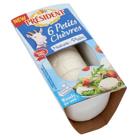 Président Petits Chèvres Fat, Soft, Unflavoured Goat Cheese 6 pcs 100 g