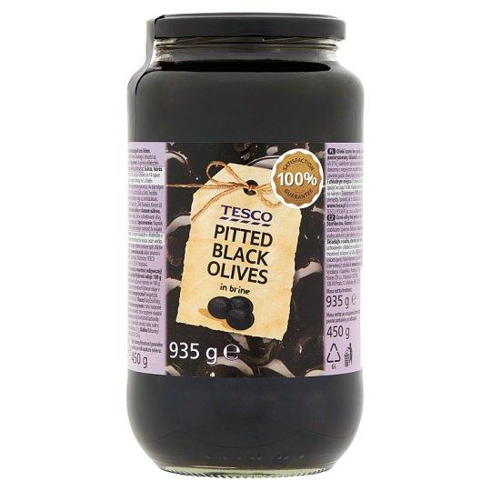 Tesco magozott fekete olívabogyók sós lében 935 g