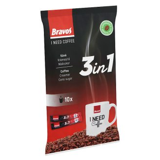 Bravos 3in1 Instant Coffee Specialty 10 pcs 170 g