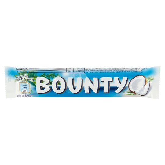 Bounty Coconut Bars Coated in Milk Chocolate 2 pcs 57 g