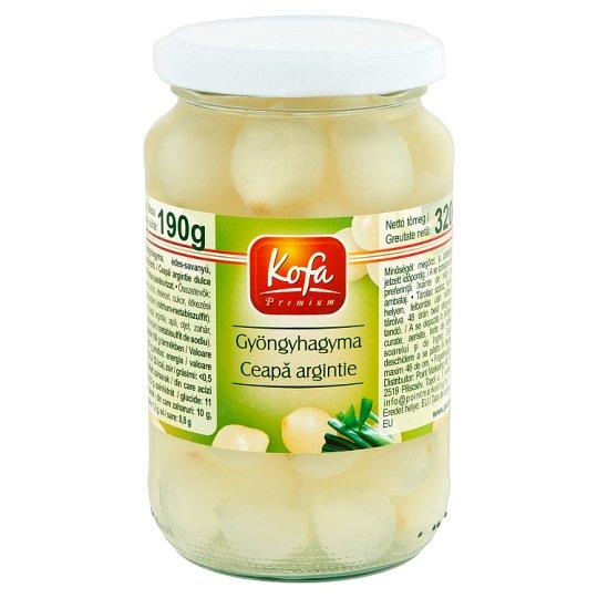 Kofa Premium édes-savanyú pikáns ecetes gyöngyhagyma 320 g