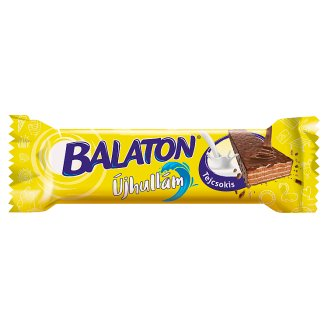 Balaton Újhullám Cocoa Cream Filled Wafer Dipped in Milk Chocolate 33 g