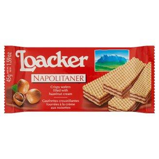 Loacker Napolitaner ropogós ostyák mogyorókrémmel töltve 45 g