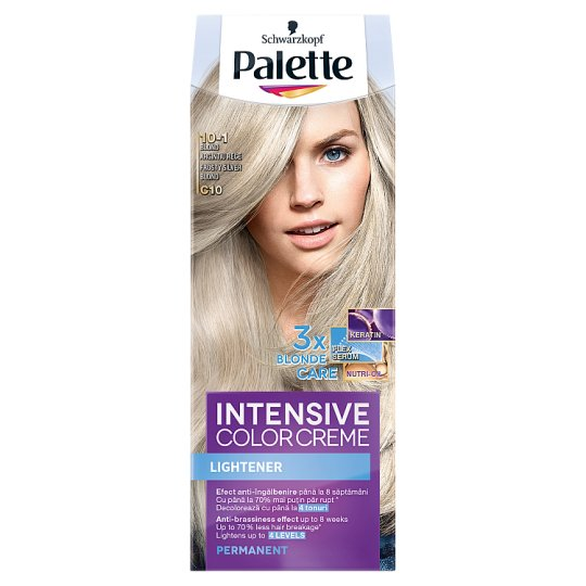 Schwarzkopf Palette Intensive Color Creme Intense Cream Hair Colorant 10-1 Silver Blonde (C10)
