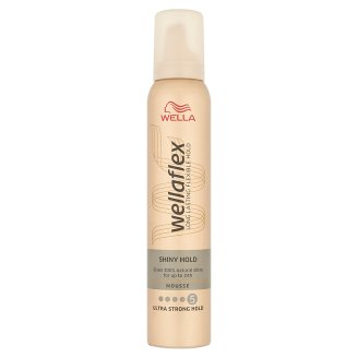 Wella Wellaflex Shiny Hold Ultra Strong Hold Mousse 200 ml