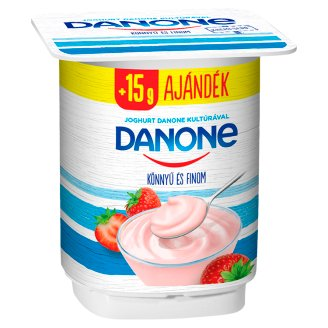 Danone Strawberry Flavoured Low-Fat Yoghurt with Live Cultures 140 g