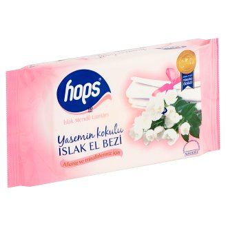 Hops Wet Wipes with Jasmine Scent 60 pcs