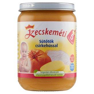 Kecskeméti glutén- és tejszármazékmentes sütőtök csirkehússal bébiétel 5 hónapos kortól 190 g
