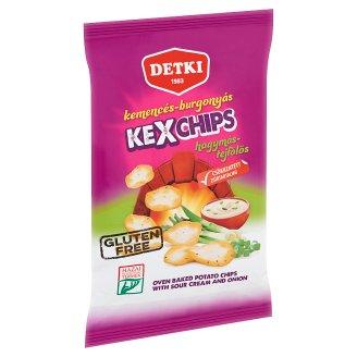 Detki Kexchips hagymás-tejfölös kemencés-burgonyás chips 75 g