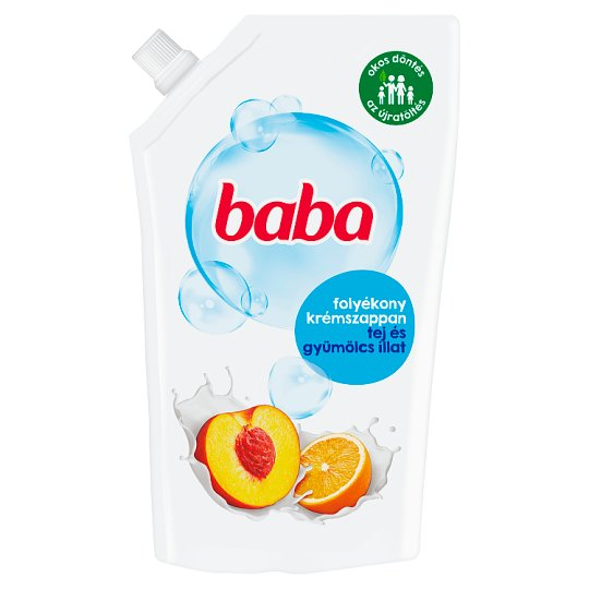 Baba Milk & Fruit-Scented Liquid Soap Refill Bag 500 ml