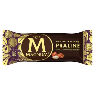 Magnum Multipack Hazelnut-Belgian Chocolate Praline Ice Cream 4 x 90 ml