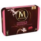 Magnum Yoghurt Fresh Yoghurt Ice Cream with Raspberry Sauce and Milk Chocolate Coating 4 pcs 440 ml