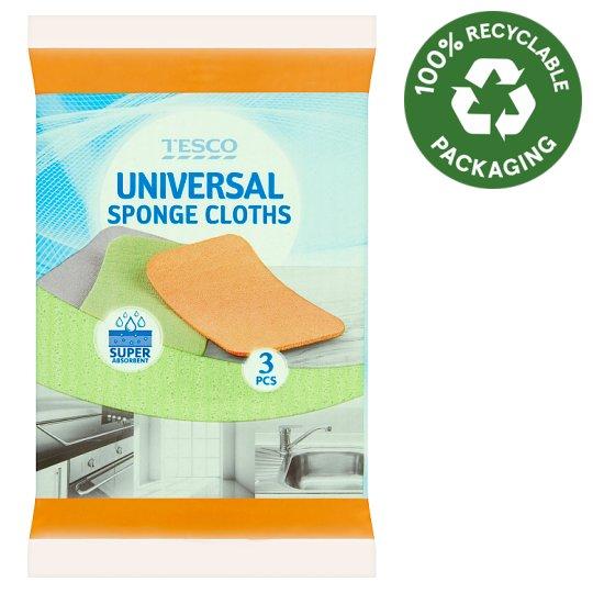 Tesco Universal Sponge Cloths 11 cm x 15,5 cm x 0,9 cm 3 pcs