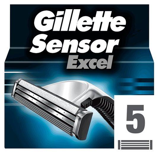Gillette SensorExcel Borotvabetét Férfi Borotvához, 5 db