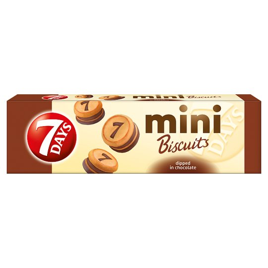 7DAYS Mini Biscuits with Cocoa Filling and Milk Chocolate Coating 100 g