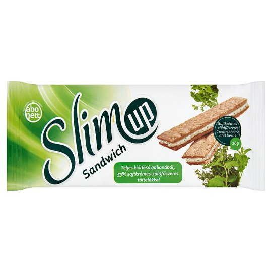 Abonett SlimUp Sandwich Wholegrain Extruded Slice with Cream Cheese and Herbs Filling 26 g