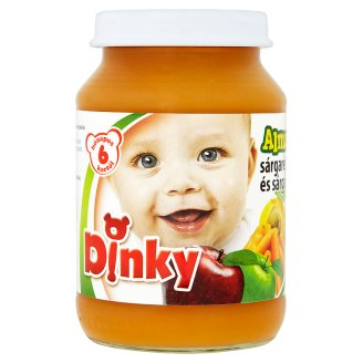 Dinky Gluten- and Dairy-Free Apple-Carrot-Apricot Dessert for Babies 6+ Months 190 g