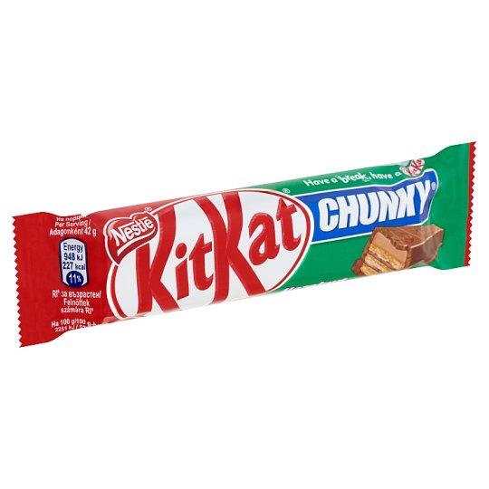 KitKat Chunky mogyorós krémmel bevont ropogós ostya tejcsokoládéban 42 g