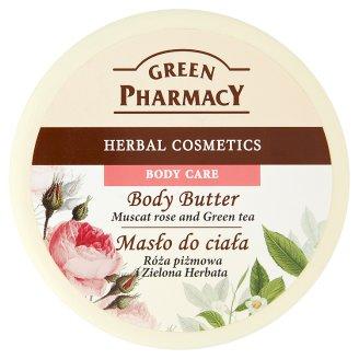 Green Pharmacy muscat rózsa és zöldtea tartalmú testvaj 200 ml
