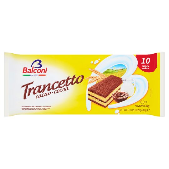 Balconi Trancetto Al Cacao Magro Oven-Baked Confectionary Product 10 pcs 280 g