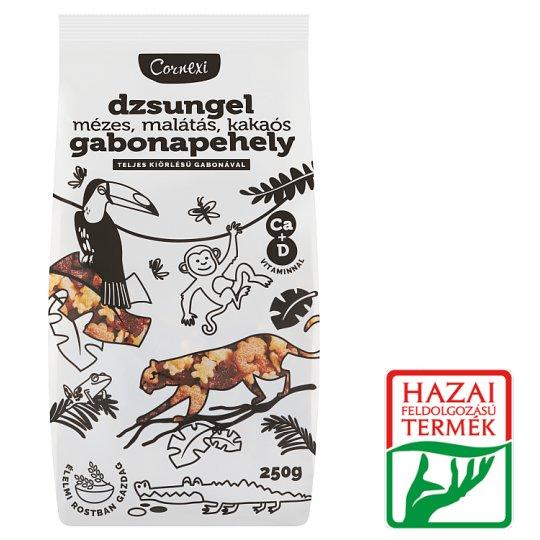 Cornexi Dzsungexi mézes-malátás-kakaós gabonapehely teljes kiőrlésű gabonával, Ca+D-vitaminnal 250 g