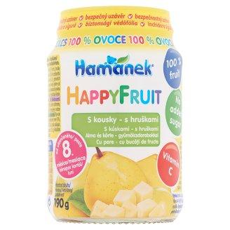 Hamé Hamánek HappyFruit Apple-Pear Baby Dessert with Fruit Pieces 8+ Months 190 g