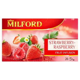 Milford Fruit Infusion Strawberry-Raspberry Flavoured Fruit Tea 20 Tea Bags 50 g