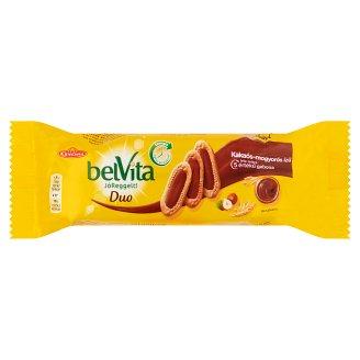 belVita JóReggelt! Duo gabonás omlós keksz kakaós-mogyorós ízű töltelékkel 50 g