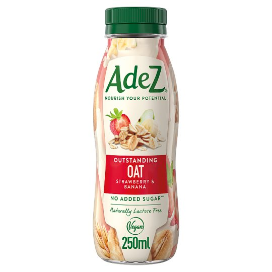 Adez Oat Drink with Apple, Banana and Strawberry Juice with Sweetener and Magnesium 250 ml