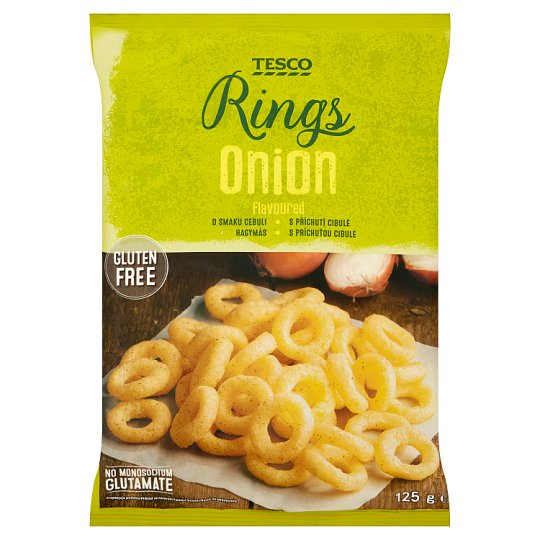 Tesco Onion Flavoured Rings 125 g