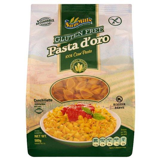 Sam Mills Pasta d'oro Kagyló gluténmentes tészta kukoricából 500 g