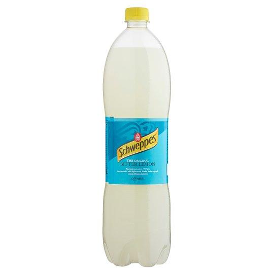 Schweppes Bitter Lemon csökkentett energiatartalmú citrom szénsavas üdítőital 1,5 l