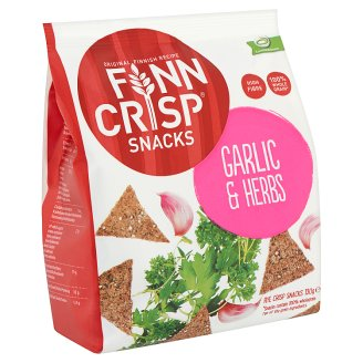 Finn Crisp Snacks Rye Crisps with Garlic and Herbs 130 g
