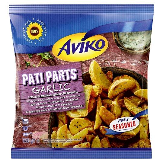 Aviko Pre-Fried, Quick-Frozen Garlic Wedges 600 g