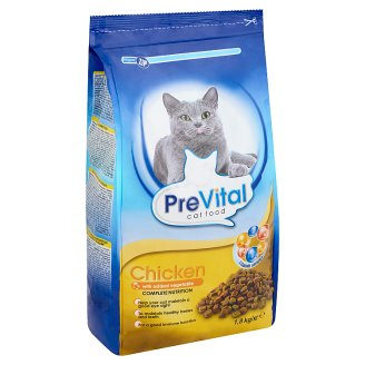 PreVital teljes értékű száraz állateledel felnőtt macskák számára csirkével és zöldséggel 1,8 kg